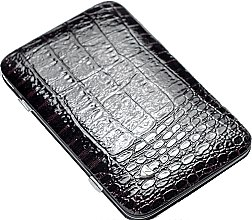 Духи, Парфюмерия, косметика Маникюрный набор MSFE-804-1 SM, лаковый, черно-коричневый - Zinger