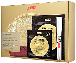 Набор - Pupa Vamp Mascara Exeptional Volume & Mask to Fight Dark Circules (mascara/9ml + f/mask/18ml + eye/mask/2.5ml + bag) — фото N1
