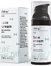 Духи, Парфюмерия, косметика Крем увлажняющий для лица для чувствительной кожи - Kili·g Man Day Cream