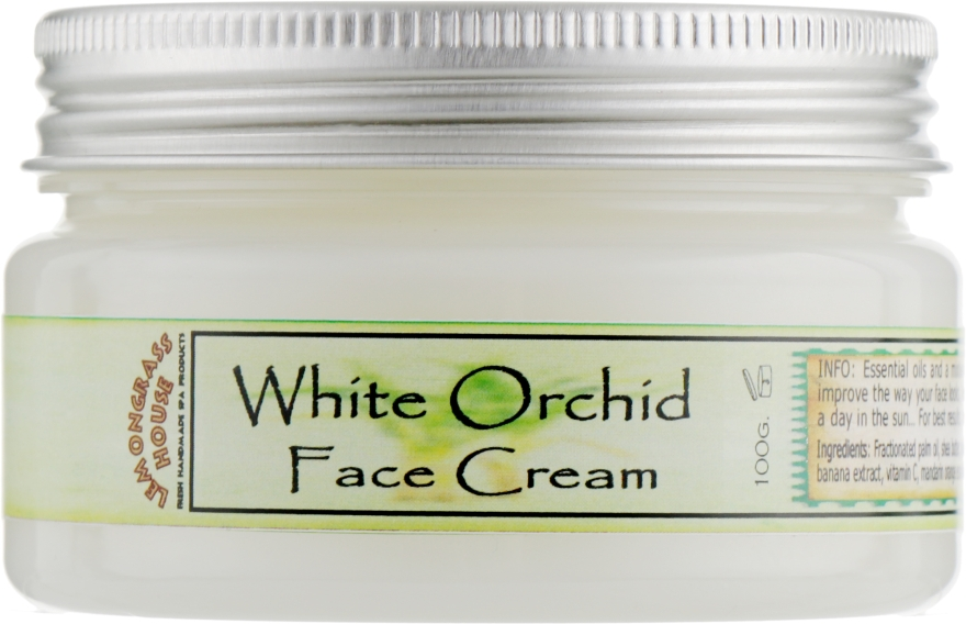 """Крем для лица """"Белая орхидея"""" - Lemongrass House White Orchid Face Cream"""