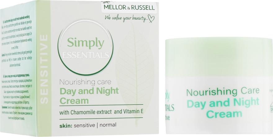 Крем для лица дневной и ночной питательный с ромашкой и витамином Е для нормальной и чувствительной кожи - Mellor & Russell Simply Essentials Sensitive Day and Night Cream