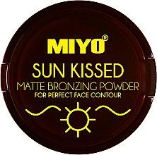 Духи, Парфюмерия, косметика Матирующая бронзирующая пудра для лица - Miyo Sun Kissed Matte Bronzing Powder