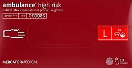 Духи, Парфюмерия, косметика Перчатки латексные, нестерильные, неприпудренные, размер L - Mercator Medical Amblance High Risk