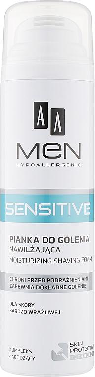 Пена для бритья для очень чувствительной кожи - AA Men Sensitive Moisturizing Shaving Foam