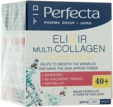 Духи, Парфюмерия, косметика Крем-лифтинг для лица против морщин - Perfecta Pharma Group Japan Elixir Multi-collagen 40+