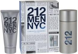 Духи, Парфюмерия, косметика Carolina Herrera 212 Men NYC - Набор (ash/gel100ml + edt/100ml)