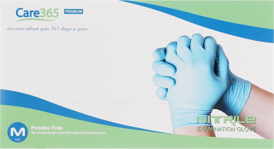 Перчатки нитриловые, неопудренные, голубые, размер M - Avenir Cosmetics