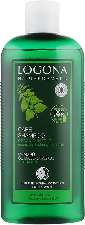 Шампунь для нормальных волос, для ежедневного использования - Logona Hair Care Essential Care Shampoo Nettles