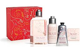 Духи, Парфюмерия, косметика Набор - L'Occitane Cherry Blossom (sh/gel/250ml + b/lot/75ml + soap/50g + h/cr/75ml)