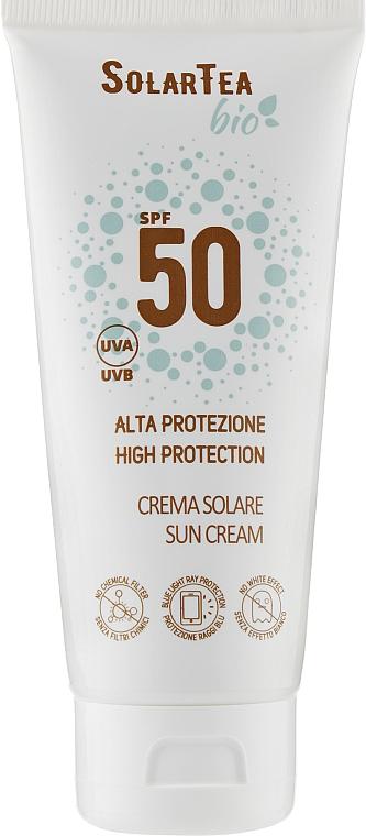 Крем солнцезащитный с высоким уровнем защиты для лица и тела - Bema Cosmetici Solar Tea Bio Sun Cream SPF 50