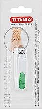 Духи, Парфюмерия, косметика Книпсер для ногтей хромированный, маленький, зеленый - Titania