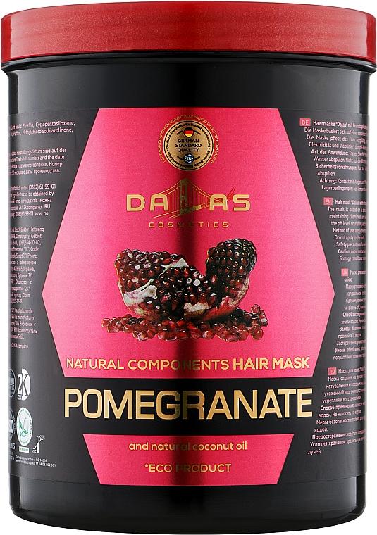 Маска для волос с маслом гранатовых косточек и натуральным кокосовым маслом - Dallas Cosmetics Pomegranate Hair Mask