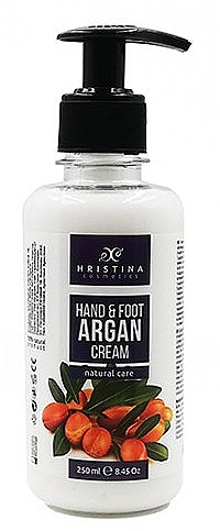 """Крем для рук и ног """"Аргановое масло"""" - Hristina Cosmetics Hand & Foot Cream With Argan Oil"""
