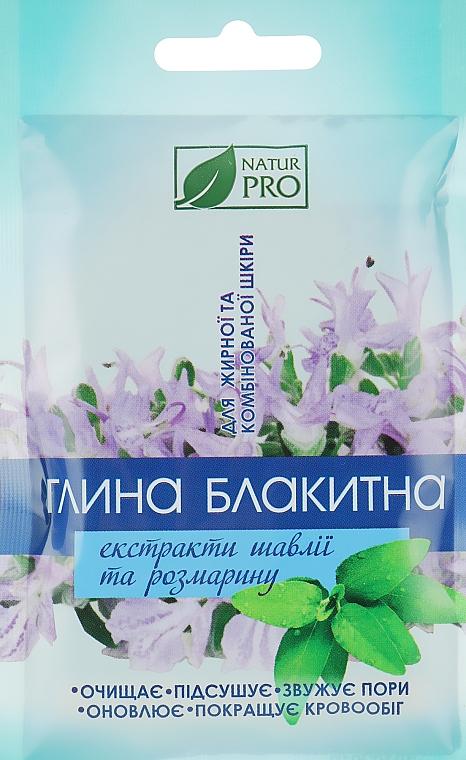 Голубая глина с экстрактом шалфея и розмарина - NaturPro