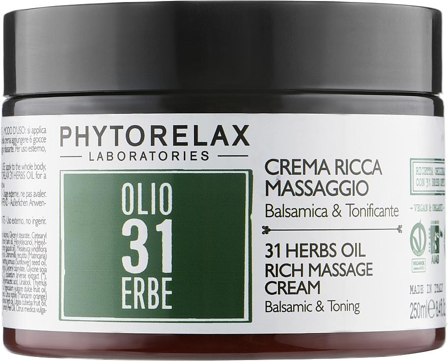 Расслабляющий массажный крем для тела - Phytorelax Laboratories 31 Herbs Rich Massage Cream
