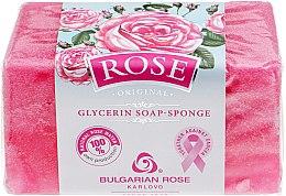 Духи, Парфюмерия, косметика Глицериновое мыло-губка - Bulgarska Rosa BioFresh Rose Original
