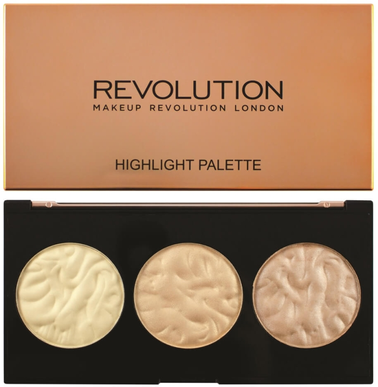 Палетка хайлайтеров для лица - Makeup Revolution Highlighter Palette
