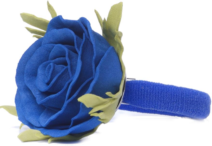 "Резинка для волос ""Синяя роза"", маленькая - Katya Snezhkova"