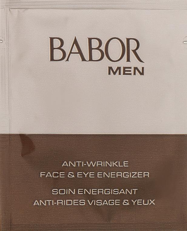 Омолаживающий гель-крем для лица и век - Babor Man Anti- Wrinkle Face & Eye Energizer (пробник)
