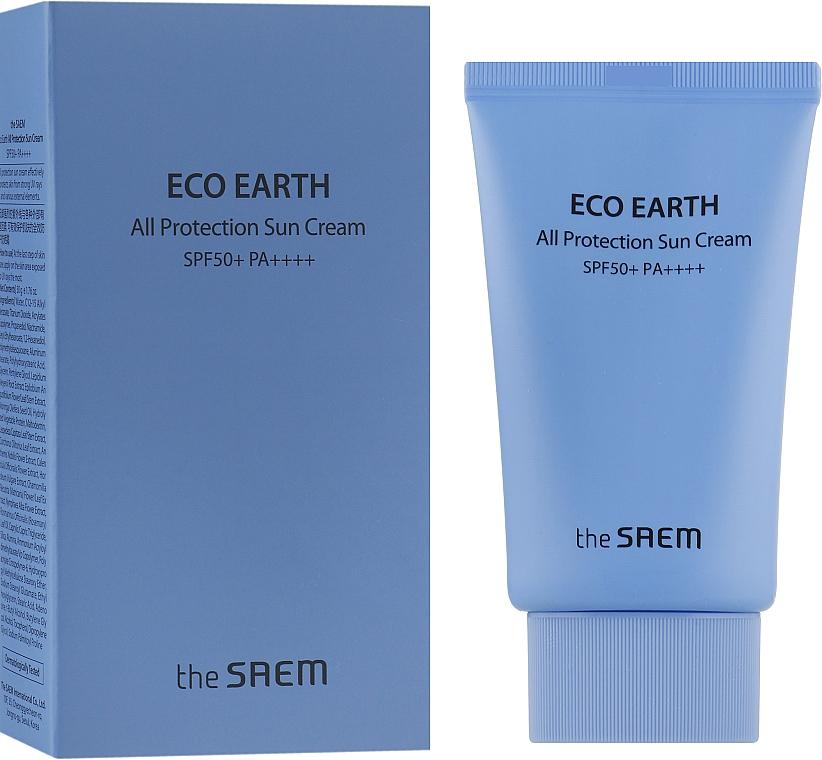 Солнцезащитный крем SPF50+ PA++++ - The Saem Eco Earth Power All Protection Sun Cream