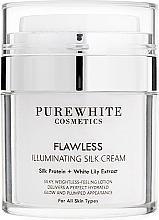 Духи, Парфюмерия, косметика Крем для сияния кожи - Pure White Cosmetics Flawless Illuminating Silk Cream