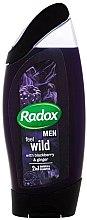 Духи, Парфюмерия, косметика Шампунь-гель для душа 2в1 - Radox Men Feel Wild Blackberry & Ginger 2in1 Shower Gel