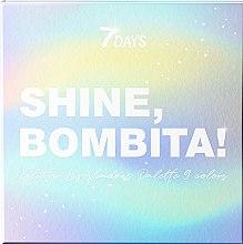 Духи, Парфюмерия, косметика Палетка мерцающих теней для век 9 цветов - 7 Days Shine, Bombita! Glitter Eyeshadows Palette 9 Colors