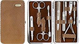 Духи, Парфюмерия, косметика Маникюрный набор, 10 предметов, лаковый коричневый, 77903G - SPL