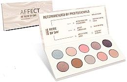 Духи, Парфюмерия, косметика Палетка прессованных теней для век - Affect Cosmetics Nude By Day Eyeshadow Palette
