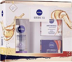 Духи, Парфюмерия, косметика Набор - Nivea Box Face Antiage 65+ (micellar/200ml + cr/2x50ml)