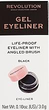 Духи, Парфюмерия, косметика Подводка для глаз с кистью - Makeup Revolution Gel Eyeliner Pot With Brush