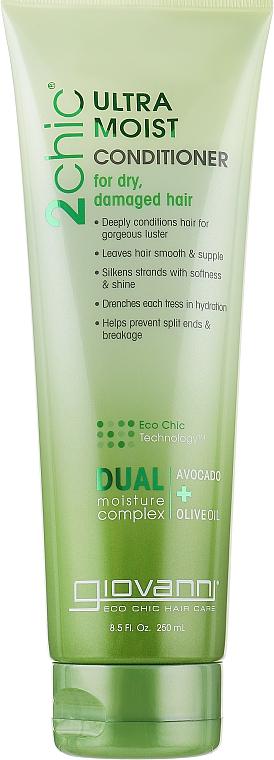 Увлажняющий кондиционер для волос - Giovanni 2chic Ultra-Moist Conditioner Avocado & Olive Oil