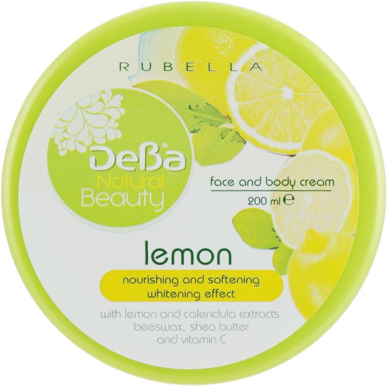 """Питательный, смягчающий и осветляющий крем для тела и лица """"Лимон"""" - DeBa Natural Beauty"""