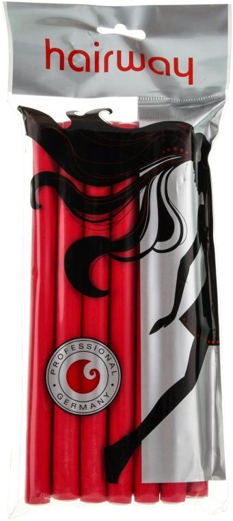 Гибкие бигуди длина 180мм d13, красные - Hairway Flex-Curler Flex Roller 18cm Red