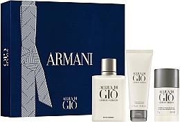 Духи, Парфюмерия, косметика Giorgio Armani Acqua Di Gio Pour Homme - Набор (edt/100ml + deo/stick/75g + ash/balm/75 ml)