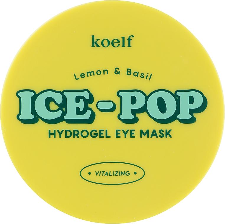 Гидрогелевые патчи под глаза с лимоном и базиликом - Petitfee&Koelf Lemon & Basil Ice-Pop Hydrogel Eye Mask