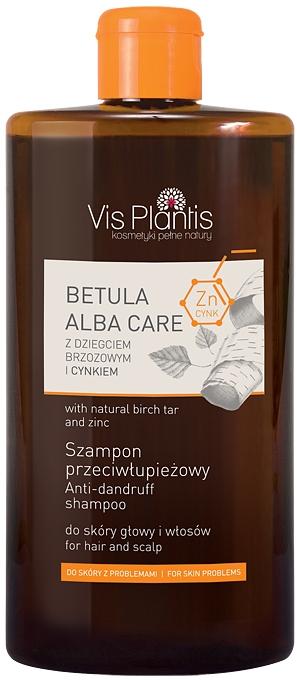 Шампунь с березовым дегтем и цинком - Vis Plantis Betula Alba Care Anti-Dandruff Shampoo