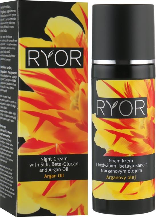 Ночной крем с шелком, бета-глюканом и аргановым маслом - Ryor Night Cream With Silk, Beta-Glucan And Argan Oil