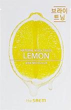 Духи, Парфюмерия, косметика Тканевая маска для лица с лимоном - The Saem Natural Lemon Mask Sheet