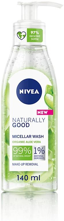 Мицеллярный гель для умывания с алоэ вера - Nivea Naturally Good Micellar Wash