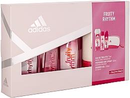 Духи, Парфюмерия, косметика Adidas Fruity Rhythm - Набор (edt/75ml + sh/gel/250ml + deo/spray/150ml + bag)