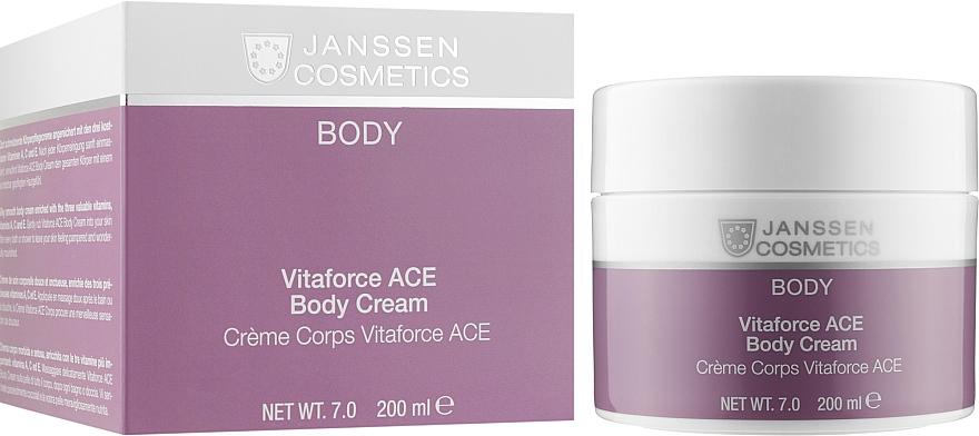 Насичений крем з вітамінами А, С, Е для тіла  - Janssen Cosmetics Vitaforce ACE Body Cream — фото N2