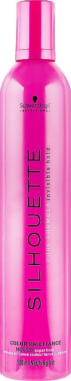 """Мусс """"Яркость цвета"""" сильной фиксации для окрашенных волос - Schwarzkopf Professional Silhouette Color Brilliance Super Hold Mousse"""
