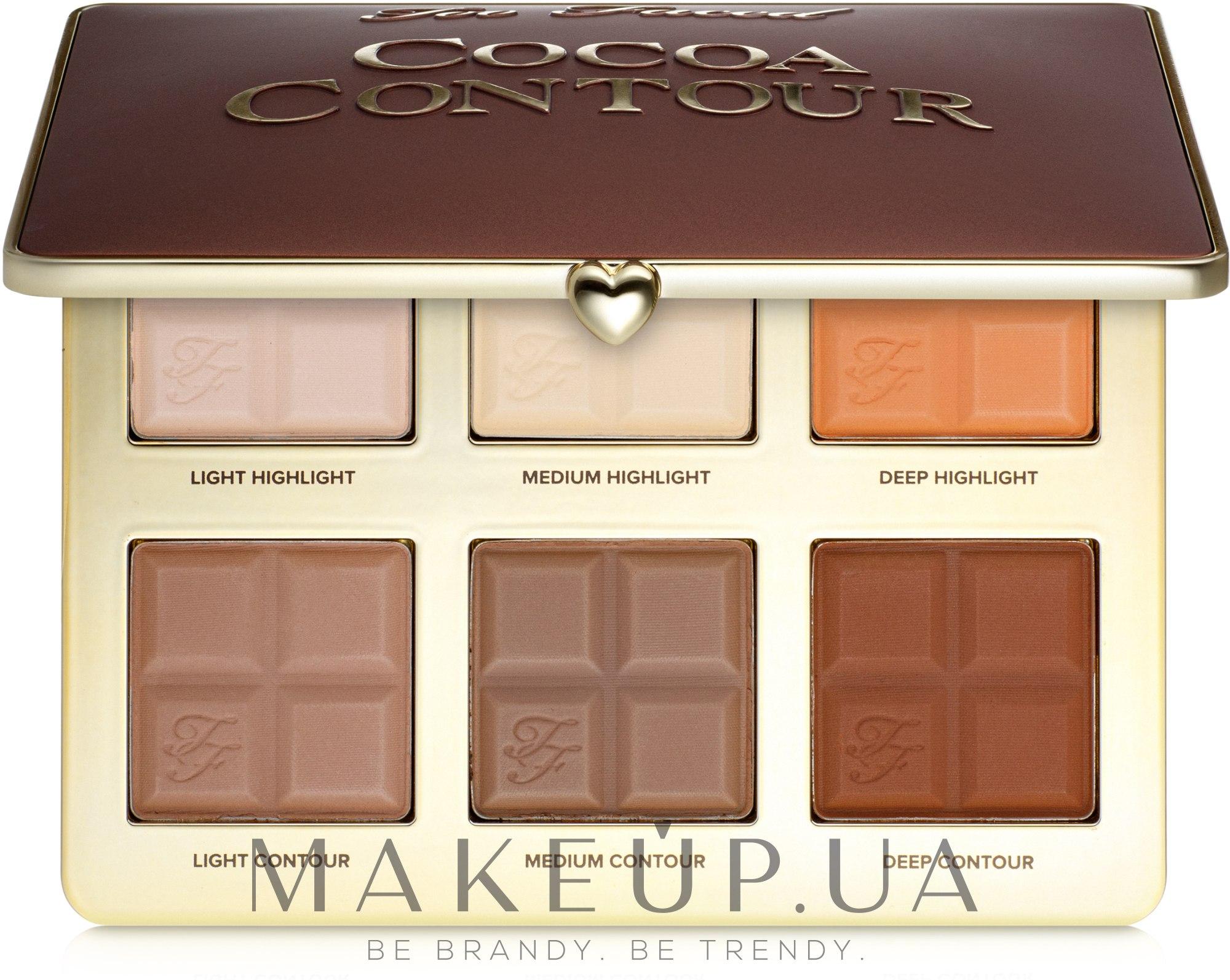 Палетка контуров и хайлайтеров - Too Faced Cocoa Contour Palette — фото 28.5g