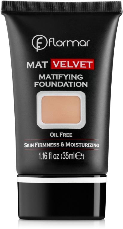 Тональный крем - Flormar Mat Velvet Matifying Foundation