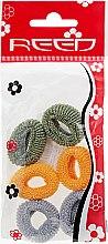 Духи, Парфюмерия, косметика Набор резинок для волос, 7576, 6шт, темно-зеленый + горчичный + серый - Reed