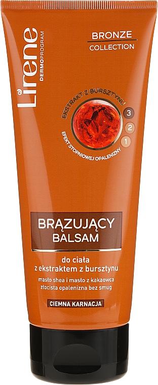 РАСПРОДАЖА Бронзирующий лосьон для тела с экстрактом янтаря, темный цвет - Lirene Bronze Collection Bronzing Body Balm*