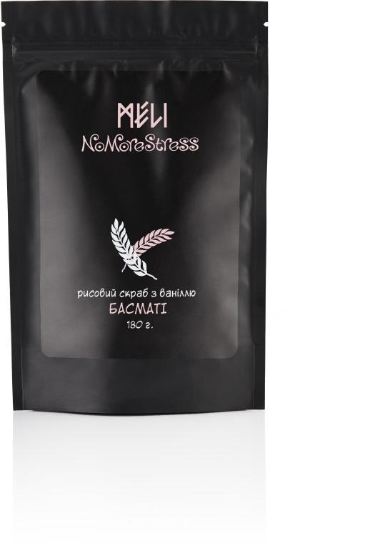 """Скраб для тела мягкий рисовый """"Басмати"""" с ванилью - Meli NoMoreStress"""