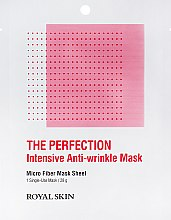 Духи, Парфюмерия, косметика Интенсивно-омоложивающая маска из микрофибры - Royal Skin The Perfection Intensive Anti-Wrinkle Mask