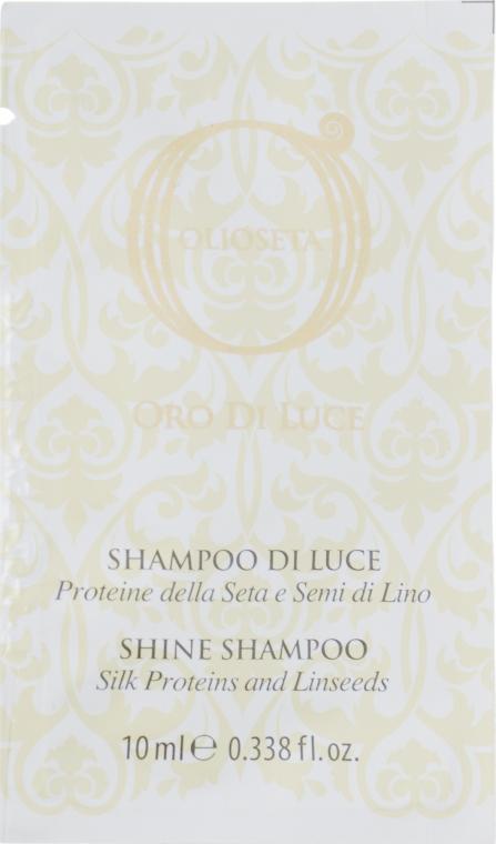 Шампунь двойного действия с протеинами шелка и экстрактом семян льна - Barex Italiana Olioseta Shampoo (мини)